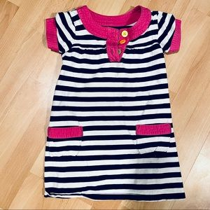 3/$10 // CARTER'S Striped Colourful Button Dress